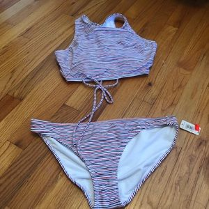 NWT GAP striped swimsuit